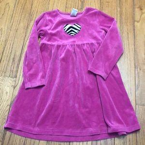 Gymboree pink velvet dress